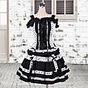 Jednodijelni/Haljine Gothic Lolita Lolita Cosplay Lolita Haljine Obala / Crn Kolaž / Color block Kratki rukav Dužina kratkih hlača Haljina