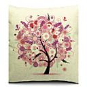 cvjetni ružičasti stabla pamuka / lana dekorativni jastuk cover