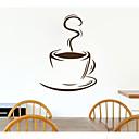 jiubai™コーヒーカップ柄の壁のステッカー壁デカール、44センチメートル* 60センチメートル