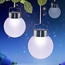 1-LED Bílý venkovní solární závěsné plastové koule světla pro výzdobu