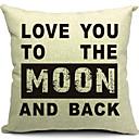 Volim te do Mjeseca pamuka / lana dekorativni jastuk naslovnici