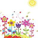 Doudouwo ® cvijeća šareni vrt zidne naljepnice