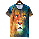 Jogal 3DアニマルプリントシリーズのTシャツ(T258スクリーンカラー)