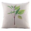 新緑は綿/リネン装飾枕カバーを残す