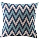 plava i bijela zigzag pamuk / lan dekorativni jastuk pokriti