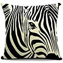 Moderní zebra proužek bavlna / len dekorativní polštář