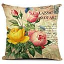 flower art bavlna / len dekorativní polštář