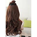 syntetická dlouhá vlna 5 clip-in prodloužení vlasů