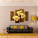 rastegnuti platnu umjetnosti zlatne Callas dekorativna slika set od 4