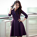 NUO WEI SI ® Women's Elegant Lapel Wrap Dress with Buttons