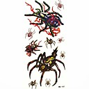 vodootporan pauk privremeni tattoo naljepnice tetovaže uzorak Kalup za body art (18.5cm * 8.5cm)