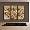 Abstraktní / Fantazie / Botanický motiv Na plátně Tři panely Připraveno k Pověste , Vertikální