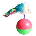 roztomilý míč myš s peřím styl pohárek kočku novinky hračky