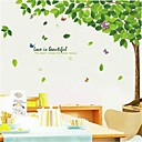 Rural Style PVC Green Shade Wall Stickers