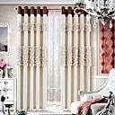 dizajner dvije ploče cvjetnim botanički bež spavaća soba poliestera panel zavjese zavjese