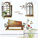 Pastoral PVC Scenery Outside The Window Wall Stickers
