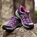 女性の紫の色透湿性屋外のキャンプ/ハイキング/旅行スポーツシューズ