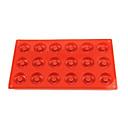 18 jamek koblihy formy, dort, čokoláda, muffin košíček formy, silikonové 29 × 17 × 1 cm (11,4 × 6,7 × 0,4 palců)