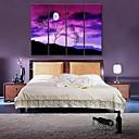 e-HOME® plátně umění pod stromem dekorativní malby sadě 4