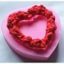 ve tvaru srdce láska věnec fondant dort Silikonová forma dort dekorace nástroje, l7.2cm * w7.1cm * h1.4cm