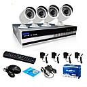 sinocam® 4ch NVR a 720p p2p kit bezpečnostní IP kamerový systém podpora videa Push