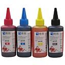 弟のためbloom®染料インク100ミリリットル互換詰め替えインク弟専用のCISSのためのすべてのインクジェットプリンタ(4色1ロット)