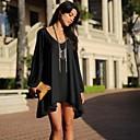 Givenchy&Jedna ženska povremeni jednobojnu v vrat haljina