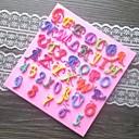 文字番号形フォンダンケーキチョコレートシリコーン型