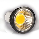 GU10 LEDスポットライト MR16 1 COB 350-400 lm 温白色 明るさ調整 交流220から240 V