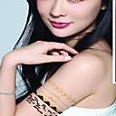 Tetovaže naljepnice - Others - za Žene/Girl/Odrasla osoba/Boy - Uzorak - #(17CM*16CM) - Uzorak/Waterproof/Blistati - #(2) kom. - (  Zlatna