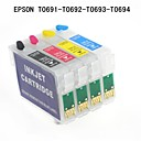 bloom®EPSONスタイラス用のEPSONのt0691 / t0692 / t0693 / t0694詰め替え可能なインクカートリッジcx7400 / cx7000f / cx6000 / CX5000 / NX100