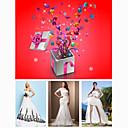 free shipping vjenčanica sretni torba s jednim svadba haljina i tri komada svadba pribor