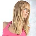 bez krytky rovné dlouhé blond fashional syntetická paruka