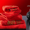 sensleep® 2ks ručníky Pack, červená výšivka festival design pro svatební 100% bavlna ručník
