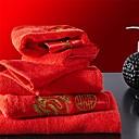 sensleep® 2pcs ručnika Pack, crveni vez festival dizajna za vjenčanje 100% pamuk ručnika