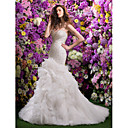Lanting Bride® フィット&フレア ウェディングドレス コートトレーン スイートハート オーガンザ とともに