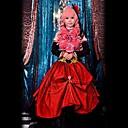 Inspirirana Vocaloid Megurine Luka Video igra Cosplay Kostimi Cosplay Suits Kolaž Crvena Bez rukava Haljina / Headpiece / Rukavi / Luk