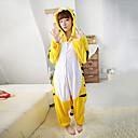 Kigurumi Pyžama Tiger Leotard/Kostýmový overal Festival/Svátek Animal Sleepwear Halloween Bílá / Černá / Žlutá Patchwork polar fleece