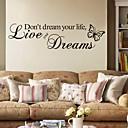 Slova a citáty Samolepky na zeď Samolepky na stěnu Ozdobné samolepky na zeď,PVC Materiál Snímatelné Home dekorace Lepicí obraz na stěnu