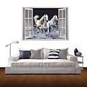 白い馬の装飾のビニールの壁のステッカーを飛ぶ3D壁のステッカー壁のステッカー、