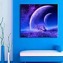 e-HOME® protáhl pod vedením plátně umění hvězdnou oblohu blesk efekt blikání optického vlákna tisk