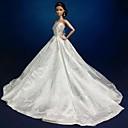 Party/Večírek Šaty Pro Barbie Doll Biały Šaty Pro Dívka je Doll Toy