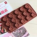 15 rupa oblik jabuke glazura Jelly čokolade kalupe, silikonska 15 × 14,5 × 1,5 cm (6,0 × 5,8 × 0,6 cm)