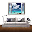 3D壁のステッカー壁のステッカー、海青い空と白い雲の装飾のビニールウォールステッカー