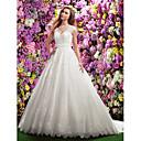 Lanting Bride® A-Linie Drobná Svatební šaty Extra dlouhá vlečka Do V Krajka s