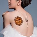 5ks 3d nepromokavé Sun totem vzor tetování samolepky