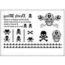 1 Tetovaže naljepnice Serija Poruka Non Toxic / Donji dio leđa / WaterproofŽene / Muškarci / Odrasla osoba Flash TattooPrivremene