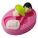 Four-C silikonová forma spící dítě dort zdobení formy, fondán dokončovací práce dodává barvě růžové