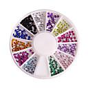 12 barva 2 mm kruhový manikúra akrylové diamantové šperky nehtů