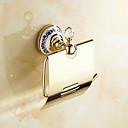 Držák na toaletní papír Ti-PVD Na ze´d 175*150mm(6.88*5.9inch) Mosaz / Keramika / Křišťál Neoklasicistní